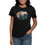 St Francis #2/ Pomeranian (T) Women's Dark T-Shirt