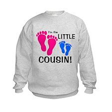 Little Cousin Baby Footprints Sweatshirt