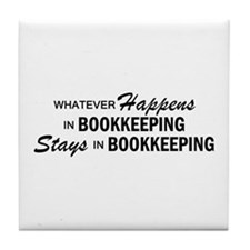 Whatever Happens - Bookkeeping Tile Coaster
