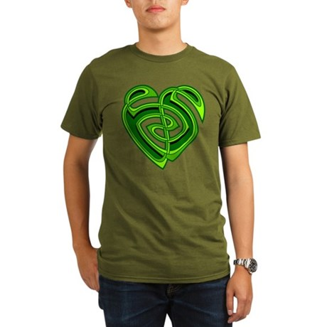 Wde Heartknot Organic Men's T-Shirt (dark)