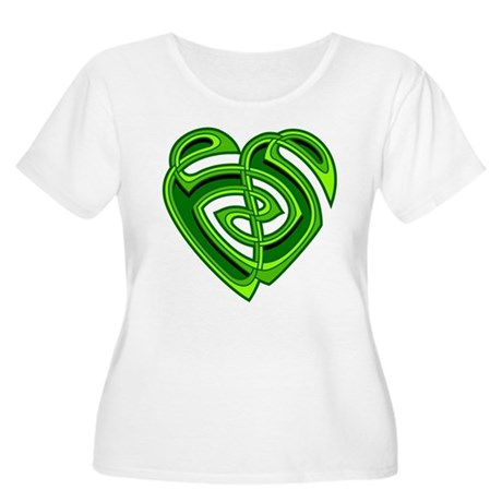 Wde Heartknot Women's Plus Size Scoop Neck T-Shirt