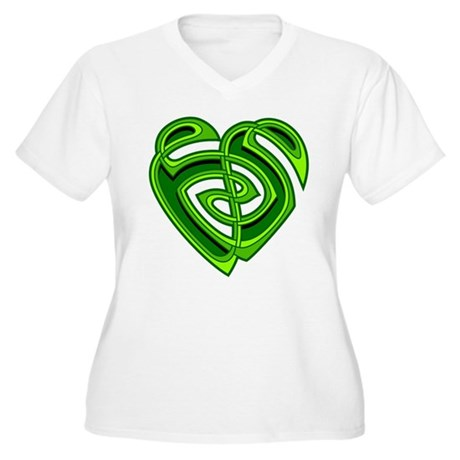 Wde Heartknot Women's Plus Size V-Neck T-Shirt