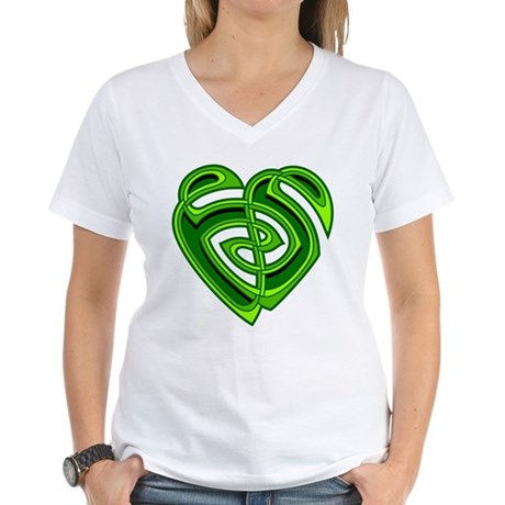 Wde Heartknot Women's V-Neck T-Shirt