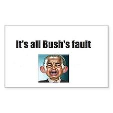2-tshirt bushs fault Decal