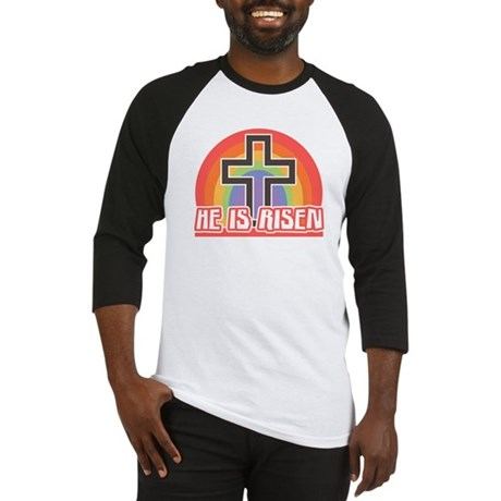 He Is Risen Religious Easter Baseball Jersey