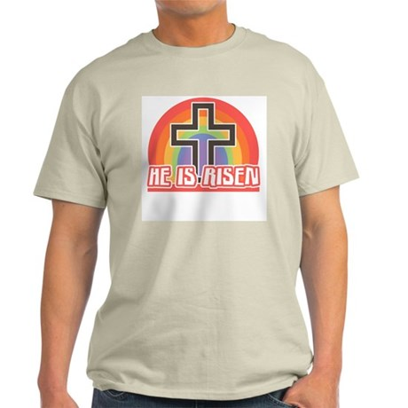He Is Risen Religious Easter Light T-Shirt