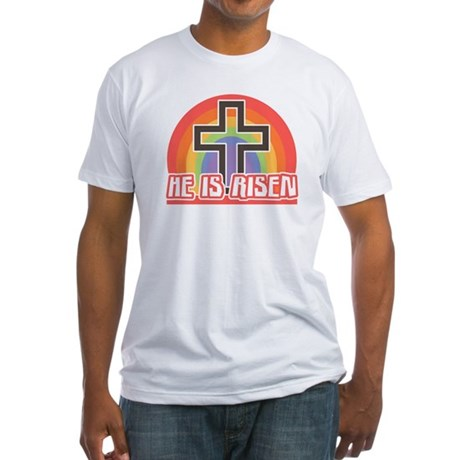 He Is Risen Religious Easter Fitted T-Shirt