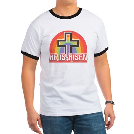 He Is Risen Religious Easter Ringer T