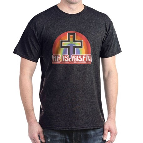 He Is Risen Religious Easter Black T-Shirt