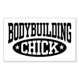 Bodybuilding Chick Decal