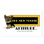 The New Yorkie Attitude Postcards (Package of 8)