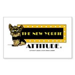 The New Yorkie Attitude Rectangle Sticker