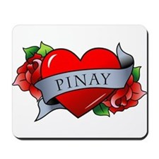 Heart & Rose - Pinay Mousepad