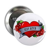"Heart & Rose - 2.25"" Button"