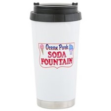 Ocean Park Soda Fountain Ceramic Travel Mug