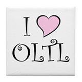 I Heart OLTL Tile Coaster