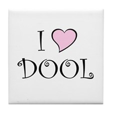 I Heart DOOL Tile Coaster