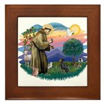 St Francis #2/ Manchester T Framed Tile