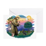 St Francis #2/ Manchester T Greeting Cards (Pk of