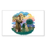 St Francis #2/ Sloughi Sticker (Rectangle 10 pk)