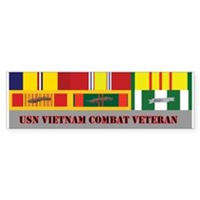 US Navy Vietnam Vet Bumper Sticker