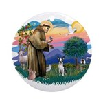 St Francis #2/ Boston T #1 Ornament (Round)