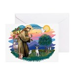 St Francis #2/ Boston T #1 Greeting Cards (Pk of 1