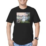 By the Seine/ Men's Fitted T-Shirt (dark)