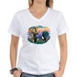 St Francis #2/ BMD Women's V-Neck T-Shirt