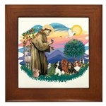St Francis #2/ Cavaliers Framed Tile