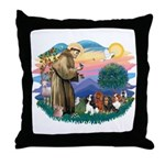 St Francis #2/ Cavaliers Throw Pillow