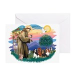 St Francis #2/ Cavaliers Greeting Card