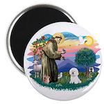St Francis #2/ Bichon #1 Magnet