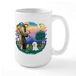 St Francis #2/ Bichon #1 Large Mug