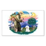 St Francis #2/ Bichon #1 Sticker (Rectangle)