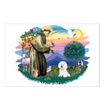St Francis #2/ Bichon #1 Postcards (Package of 8)