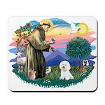 St Francis #2/ Bichon #1 Mousepad