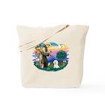 St Francis #2/ Bichon #1 Tote Bag