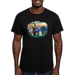 St Francis #2/ Bichon #1 Men's Fitted T-Shirt (dar