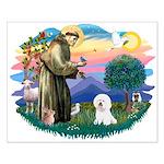 St Francis #2/ Bichon #1 Small Poster
