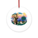 St Francis #2/ Cavalier (bl) Ornament (Round)