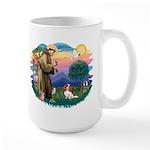 St Francis #2/ Cavalier (bl) Large Mug