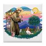 St Francis #2/ Cavalier (bl) Tile Coaster