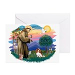St Francis #2/ Cavalier (bl) Greeting Cards (Pk of