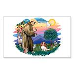 St Francis #2/ Cavalier (bl) Sticker (Rectangle)