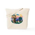 St Francis #2/ Cavalier (bl) Tote Bag