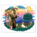 St Francis #2/ Cavalier (bl) Small Poster