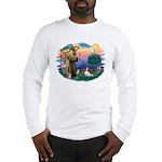 St Francis #2/ Cavalier (bl) Long Sleeve T-Shirt