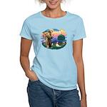 St Francis #2/ Cavalier (bl) Women's Light T-Shirt