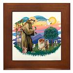 St Francis #2/ Chow (B) Framed Tile
